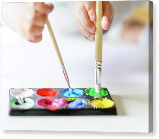 Vibrant Gouache Color Set In Double Use Canvas Print by Tatiana Kolesnikova