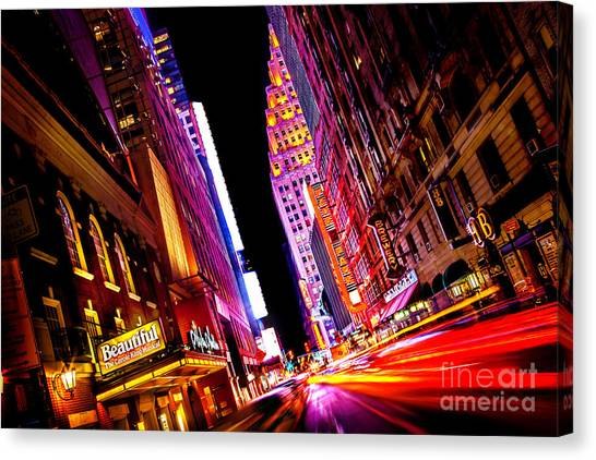 Flash Canvas Print - Vibrant New York City by Az Jackson