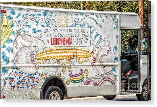 Vic And Nat'ly And The Leidenheimer Po-boy Truck - New Orleans Canvas Print