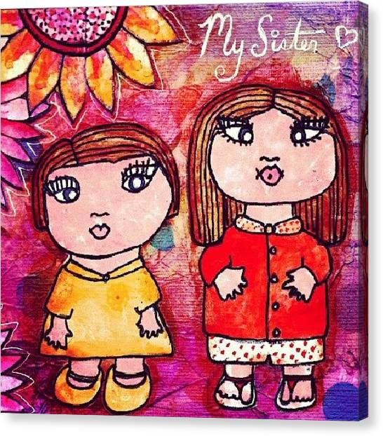 Robins Canvas Print - Vic And Rach When They Were Lil by Robin Mead