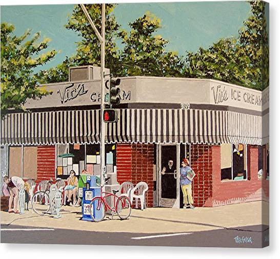 Vic's Ice Cream No. 3 Canvas Print by Paul Guyer