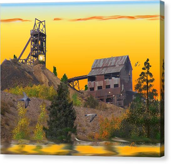 Victor Colorado Gold Mine Canvas Print