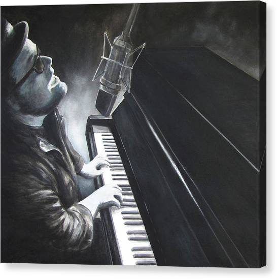 Victor Wainwright And The Wildroots Lit Up Canvas Print by Patricia Ann Dees