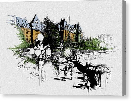 Vancouver Skyline Canvas Print - Victoria Art 001 by Catf