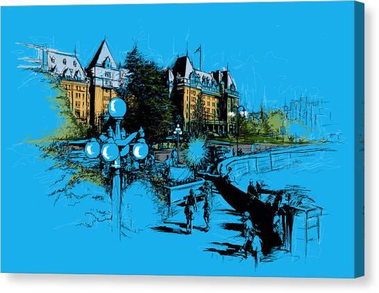 Vancouver Skyline Canvas Print - Victoria Art 002 by Catf