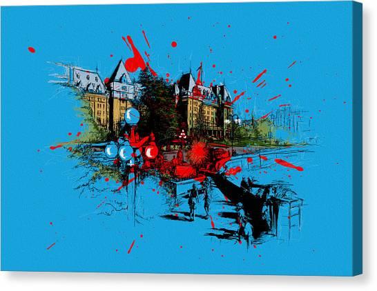 Vancouver Skyline Canvas Print - Victoria Art 003 by Catf