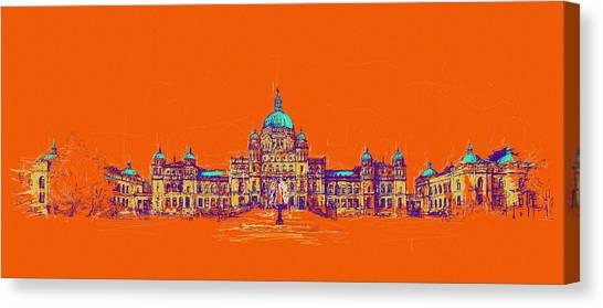 Vancouver Skyline Canvas Print - Victoria Art 006 by Catf