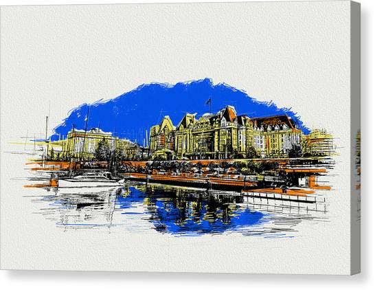 Vancouver Skyline Canvas Print - Victoria Art 011 by Catf