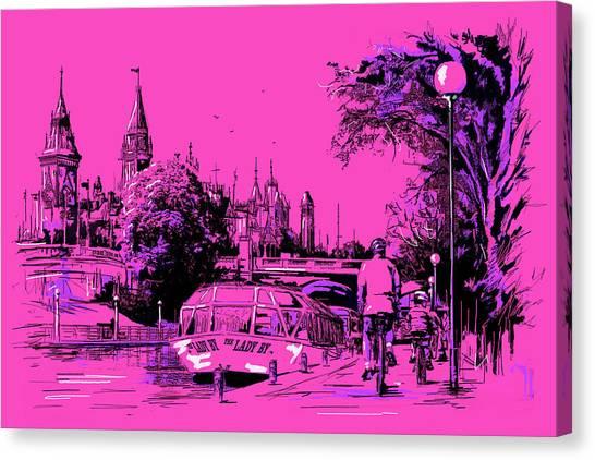 Vancouver Skyline Canvas Print - Victoria Art 012 by Catf