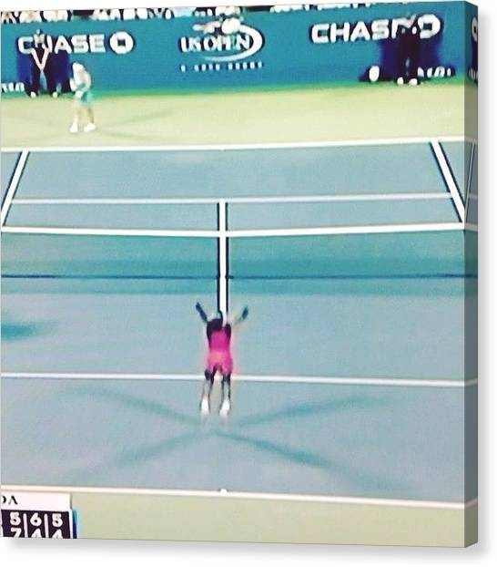 Video Games Canvas Print - Victoria Duval Wins @usopen by Gaby Mabromata