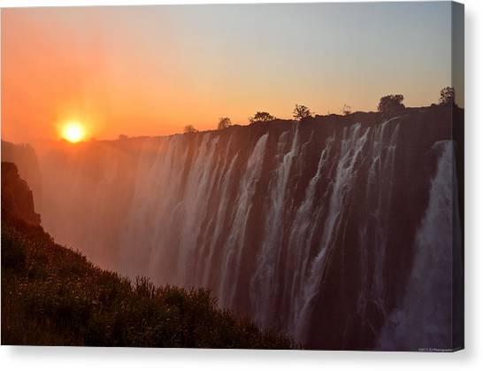 Victoria Falls At Sunset Canvas Print