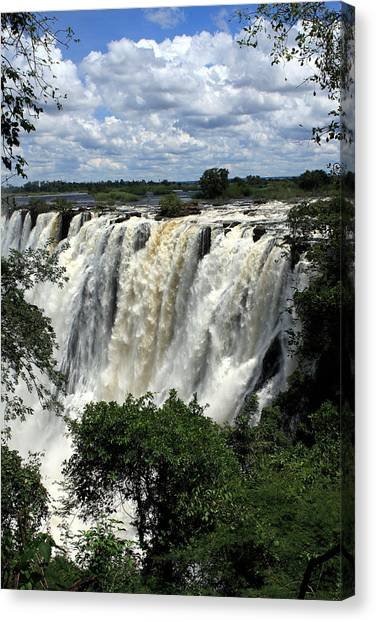 Victoria Falls Canvas Print - Victoria Falls On The Zambezi River by Aidan Moran