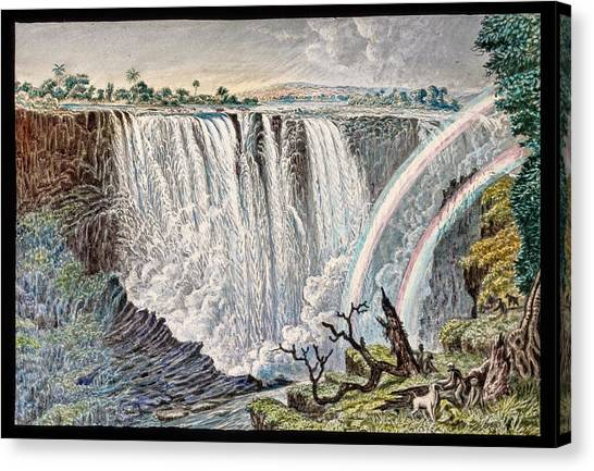 Victoria Falls Canvas Print - Victoria Falls Rainbows by Gustoimages/science Photo Libbrary