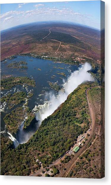 Victoria Falls Canvas Print - Victoria Falls by Steve Allen/science Photo Library