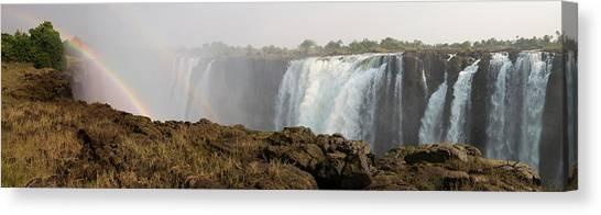 Victoria Falls Canvas Print - Victoria Falls With Rainbow by Panoramic Images