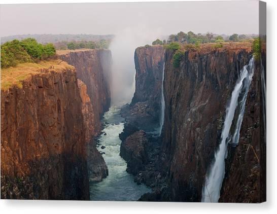 Victoria Falls Canvas Print - Victoria Falls, Zambia by Peter Adams