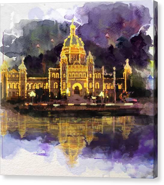 Vancouver Island Canvas Print - Victoria Scenery 6b by Mahnoor Shah