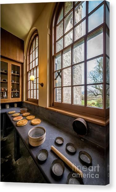 Kitchen Window Canvas Print - Victorian Baking by Adrian Evans