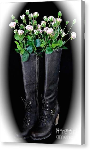 Victorian Black Boots Canvas Print