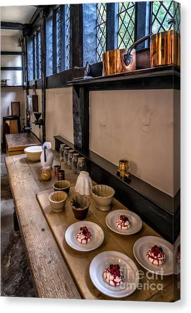 Kitchen Window Canvas Print - Victorian Desserts by Adrian Evans