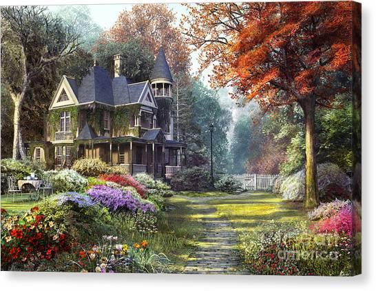 Victorian Garden Canvas Print - Victorian Garden by MGL Meiklejohn Graphics Licensing