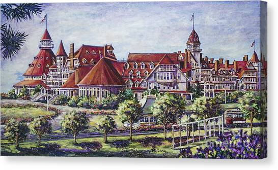 Victorian Hotel Del Canvas Print