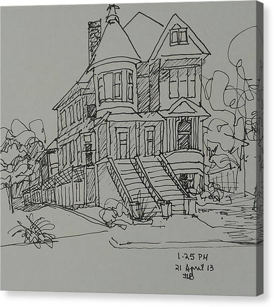 Victorian House Canvas Print by Janet Butler