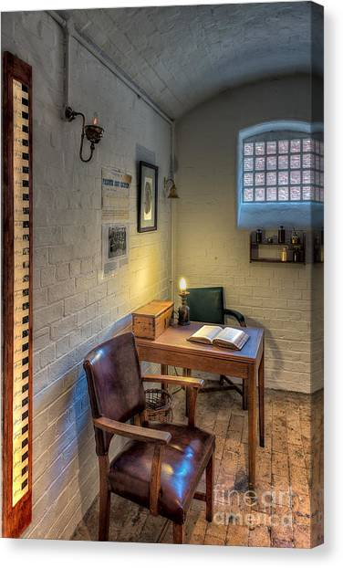 Detention Canvas Print - Victorian Jail Office by Adrian Evans