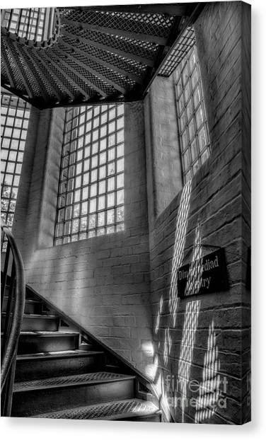Detention Canvas Print - Victorian Jail Staircase V2 by Adrian Evans