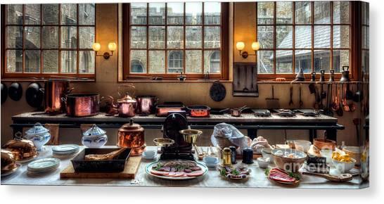 Kitchen Window Canvas Print - Victorian Kitchen by Adrian Evans