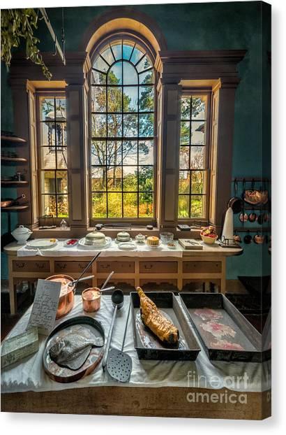 Kitchen Window Canvas Print - Victorian Kitchen Window by Adrian Evans