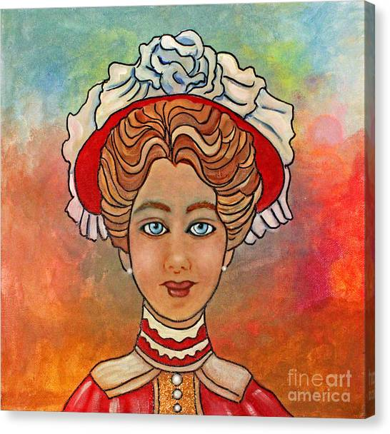 Victorian Lady-a Canvas Print