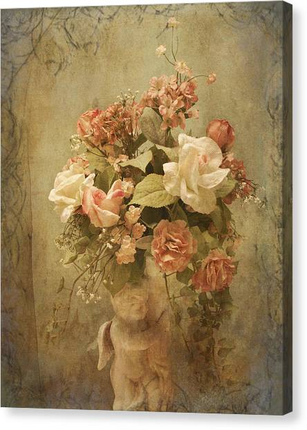 Victorian Rose Floral Canvas Print