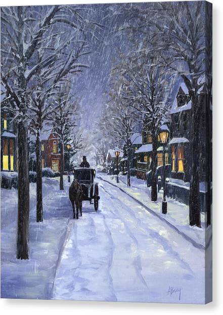 Victorian Snow Canvas Print