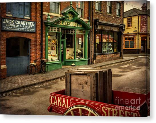 The British Museum Canvas Print - Victorian Town by Adrian Evans