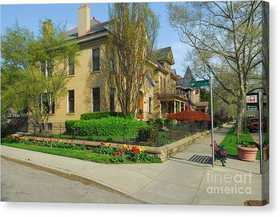 D47l-15 Victorian Village Photo Canvas Print