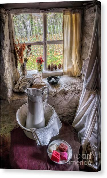 Victorian Garden Canvas Print - Victorian Wash Area by Adrian Evans