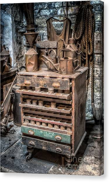 The British Museum Canvas Print - Victorian Workshop by Adrian Evans