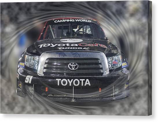 Kyle Busch Canvas Print - Victorious Rowdy Tundra by Gary Nelson