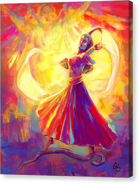 Prophetic Art Canvas Print - Victory Dance by Tamer and Cindy Elsharouni