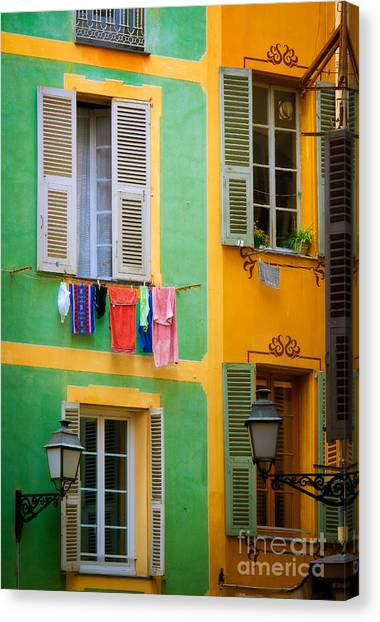 Europa Canvas Print - Vieille Ville Windows by Inge Johnsson
