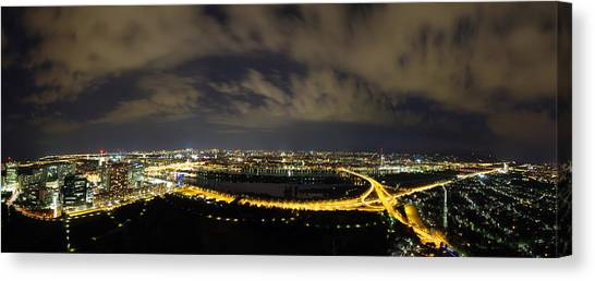 Vienna At Night Canvas Print by Ioan Panaite