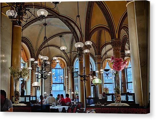 Vienna Central Cafe Canvas Print by Viacheslav Savitskiy