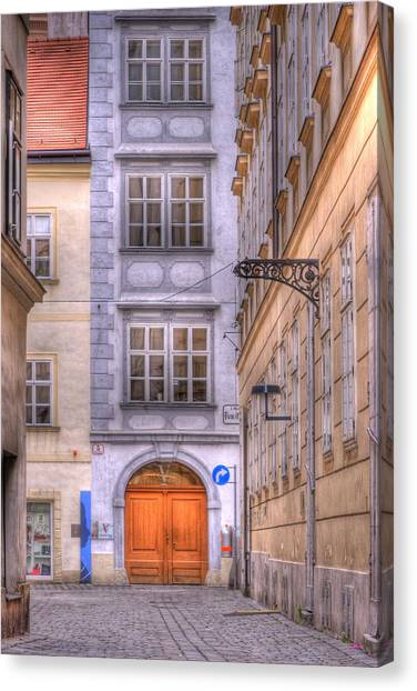 Mozart Canvas Print - Vienna  Mozarthaus by Juli Scalzi