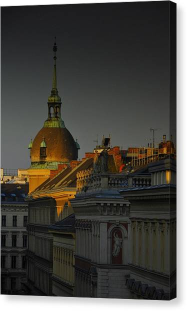 City Sunrises Canvas Print - Vienna Sunrise by Aaron Bedell