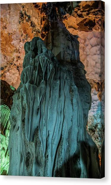Caverns Canvas Print - Vietnam Hang Dau Go Stalagmites Cave by Photostock-israel