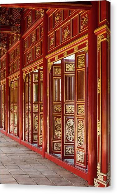 Lacquer Canvas Print - Vietnam, Hue Imperial City by Walter Bibikow