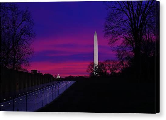 Vietnam Memorial Sunrise Canvas Print