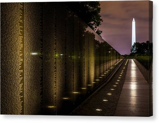 Vietnam War Canvas Print - Vietnam Veterans Memorial by David Morefield