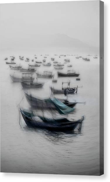 Vietnamese Canvas Print - Vietnamese Boats by Svetlin Yosifov